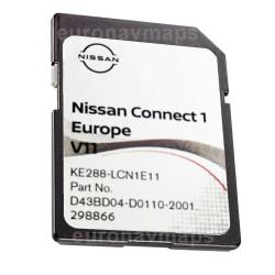 Sd card Nissan Connect 1 v11 Europa 2021. KE288-LCN1E11
