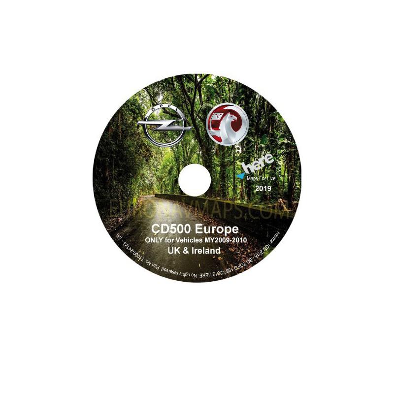 update navigation cd opel vauxhall cd500 UK & Ireland my2009_my2010