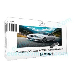 Update GPS navigator maps Mercedes Comand Online NTG5 activation pin code comand online