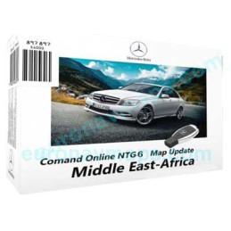 Atualizar mapas do navegador GPS Mercedes Comand Online NTG 6