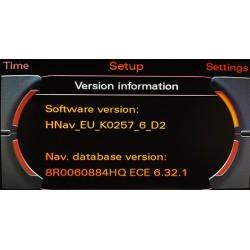 mise a jour navigateur Audi MMI 3G HDD Europe 2022 6.33.1_8R0051884JD